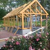 växthus målat med linoljefärg