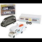 Leluautosarja 3-osainen.  Matkaluauto, veturi ja matkailuvaunu