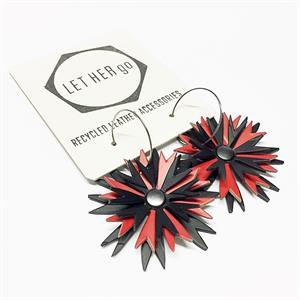 ASTRILLI- korvakorut, musta/punainen