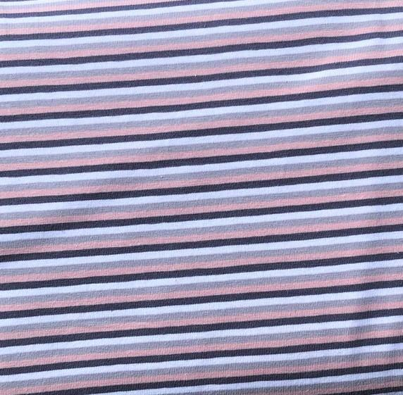 Rose, grey, white. YD stripe