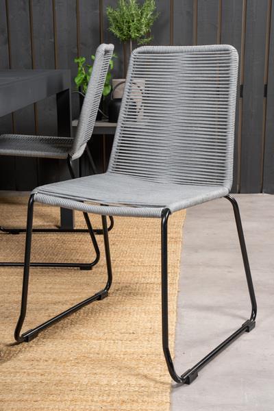 LINDOS stol grå