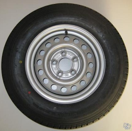 Art.nr: 648600. Komplett hjul 185R14C Art.nr: 648600
