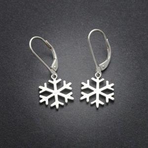 Örhängen snöflingor, sterling silver