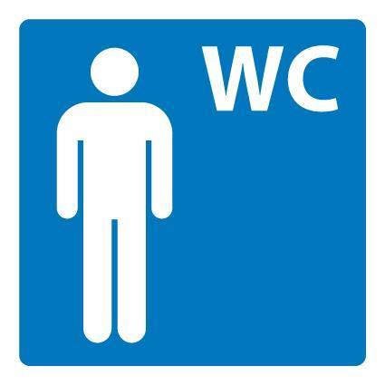 Plastskilt Herre toalett