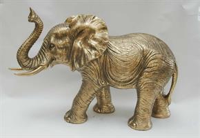 Elefant antikk gull, 51x19x34