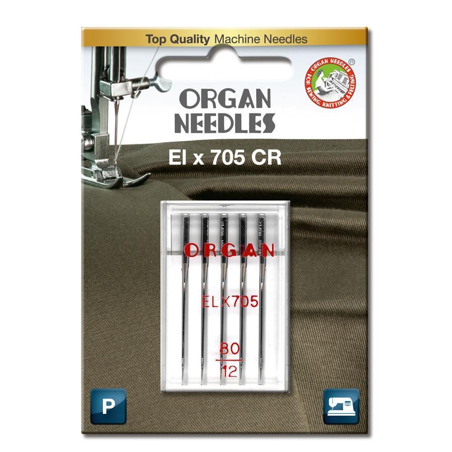 Nål Organ ELx705 Krom 80, 5-pakk