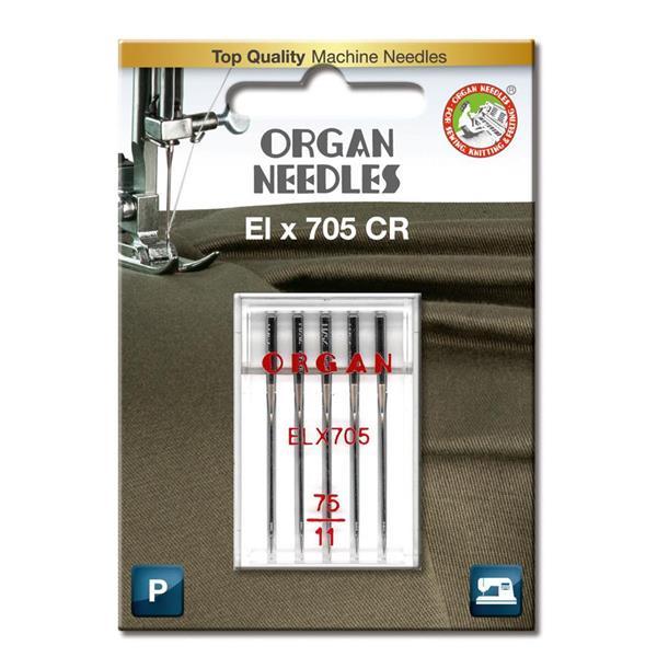 Nål Organ ELx705 Krom 75, 5-pakk
