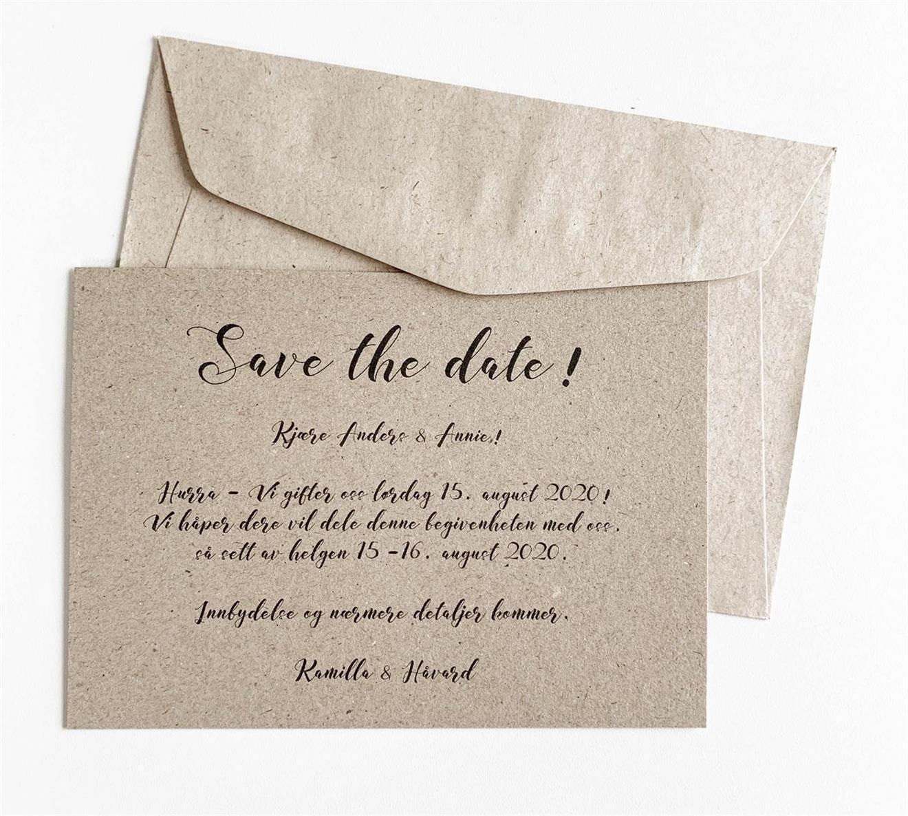 "Invitasjon ""Save the date!"" Natur"