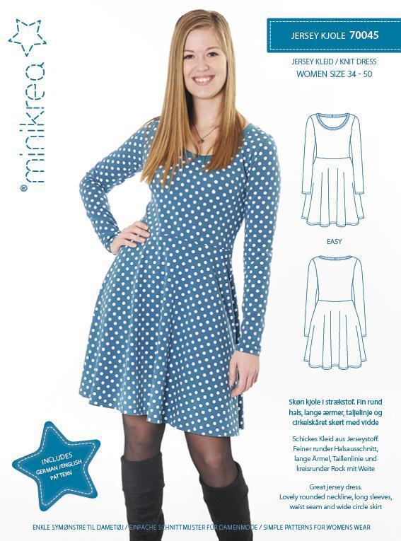 Jersey kjole 70045