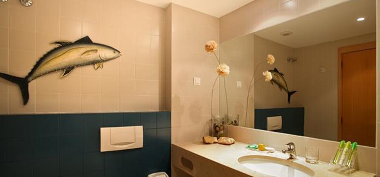 Exempel på badrum i lägenhet för 4 pers