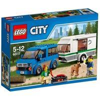 Lego lelu pakettiauto ja matkailuvaunu