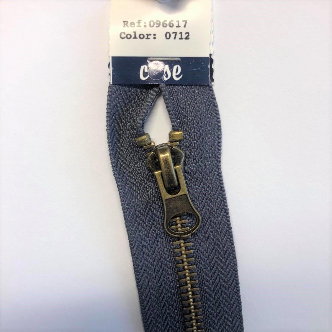 Delbar glidlås 50 cm grå 96617