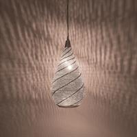 Elegance Swirl Pendel - Large Silver