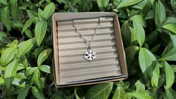 Halsband Snöflinga, sterling silver