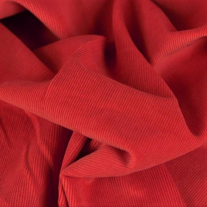 Fine Corduroy Plain, red