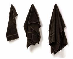 Duschhandduk svart 70 X 140 cm