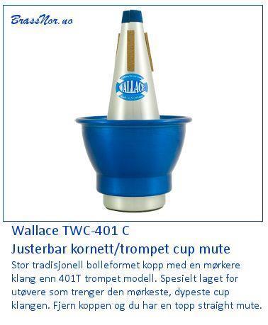 Wallace Adjustable cornet cup mute