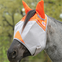 Crusader Orange FLY MASK with ears