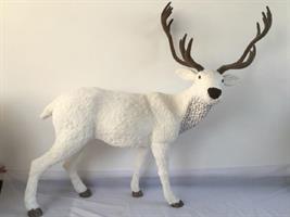 Jukedekorasjon Hjort hvit