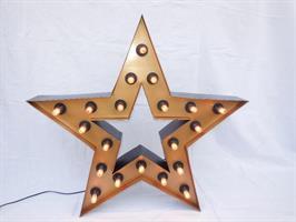 Vegglampe Star sort/gull