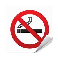Røyking forbudt - 10x10cm
