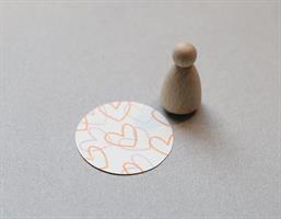 Stempel Mini Hjerte Outline