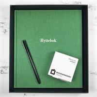 Hyttebok i Duo Grønn med hvit skrift