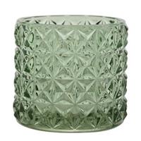Lysglass Grønn m/rutemønster
