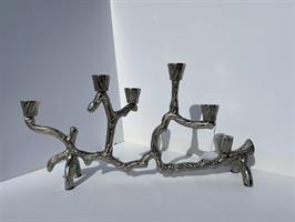 Ljusstake kvist silver