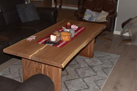 Litet massivt ekplanksbord 2 -plank