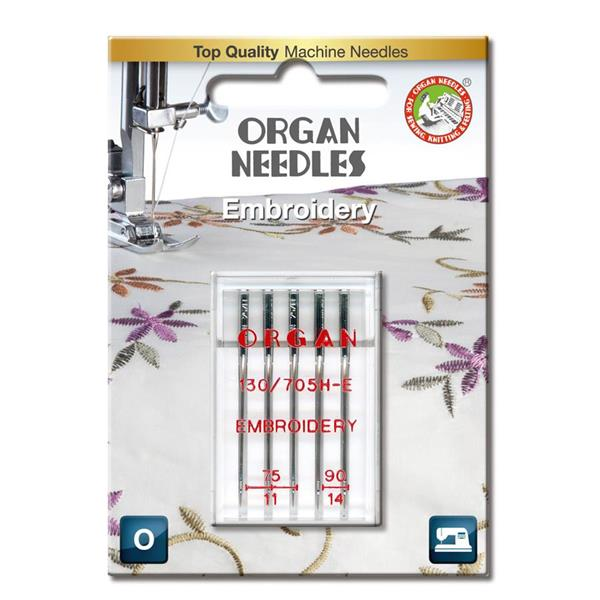 Nål Organ broderi 75-90, 5-pakk
