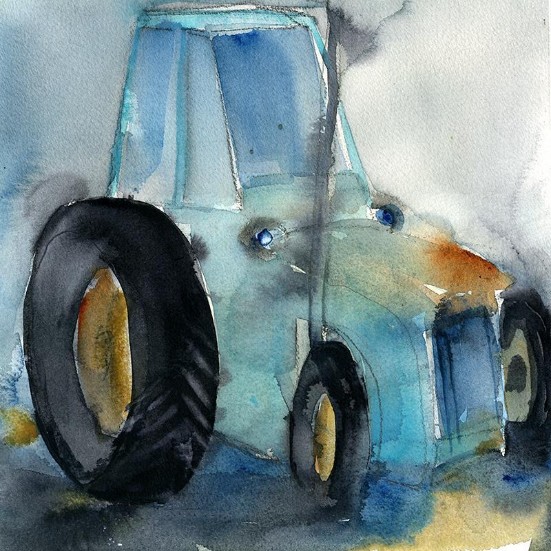 Min blå traktor