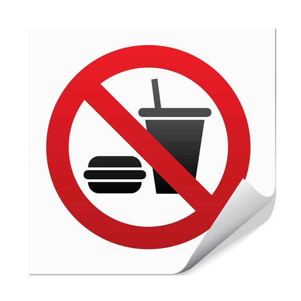 Mat og drikke forbudt - 10x10cm