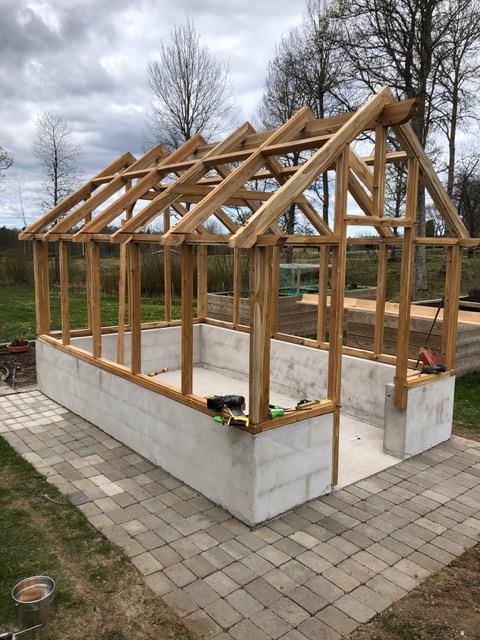 Växthus i Teak  10 m2