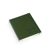 Kalender Olivengrønn A6+ Vev Wire-o - 2022