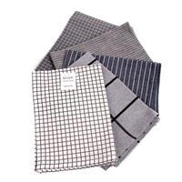 Kjøkkenhåndkle sett, grå