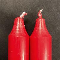Rød Rustik Kronelys