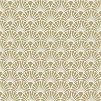 Art Deco Gold White