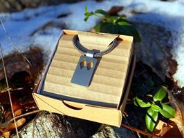 Halsband Double Black Diamond, Stål