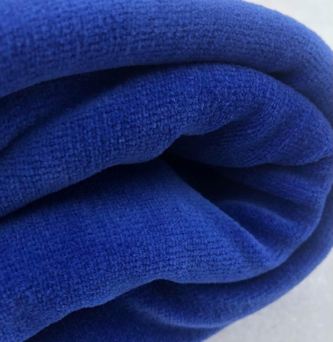 Velour blå