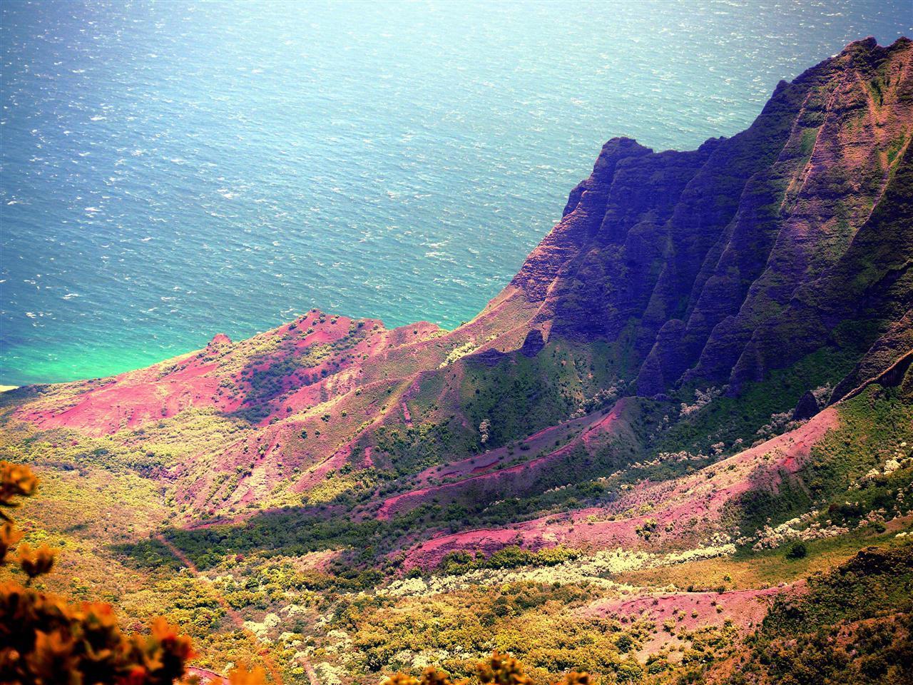 Na Pali Valley på äventyrsön Kauai, USA