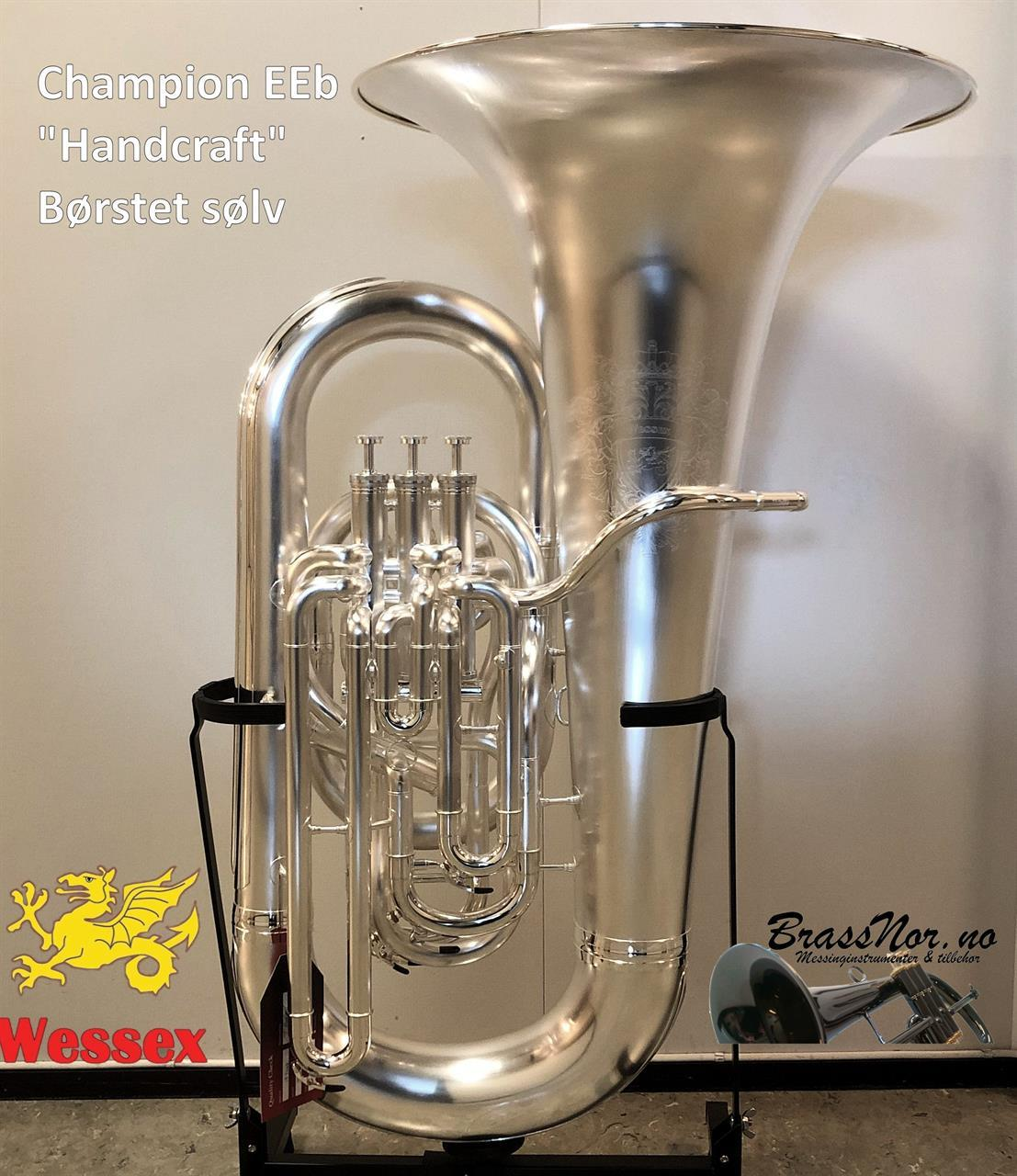 Wessex Eb-tuba Champion børstet sølv Handcraft