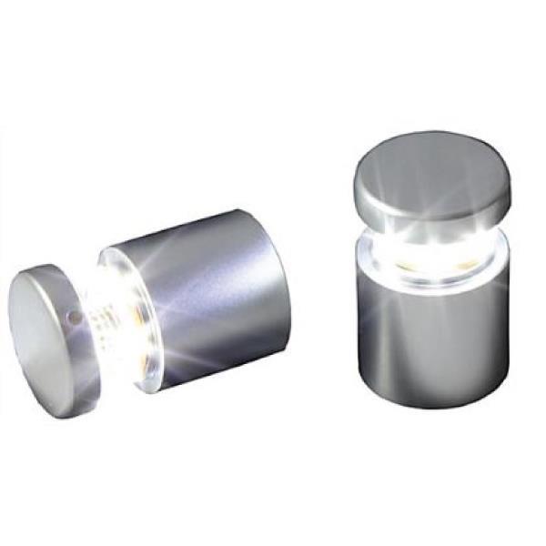 Standoffs - LED Illuminated, Round - Silver