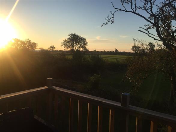 Morgonsol från verandan