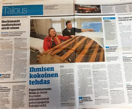 Sanomalehti Karjalainen 24.1.2018