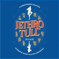 JETHRO TULL: 50 FOR 50-A CAREER SPANNING COLLECTION-KÄYTETTY 3CD