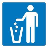 Skilt Søppelkurv