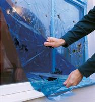 Skyddsfilm Fönster blå, 600mm X 100 meter