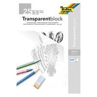 Transparentpapir i blokk A4