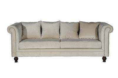 Velvet 3-sitssoffa beige
